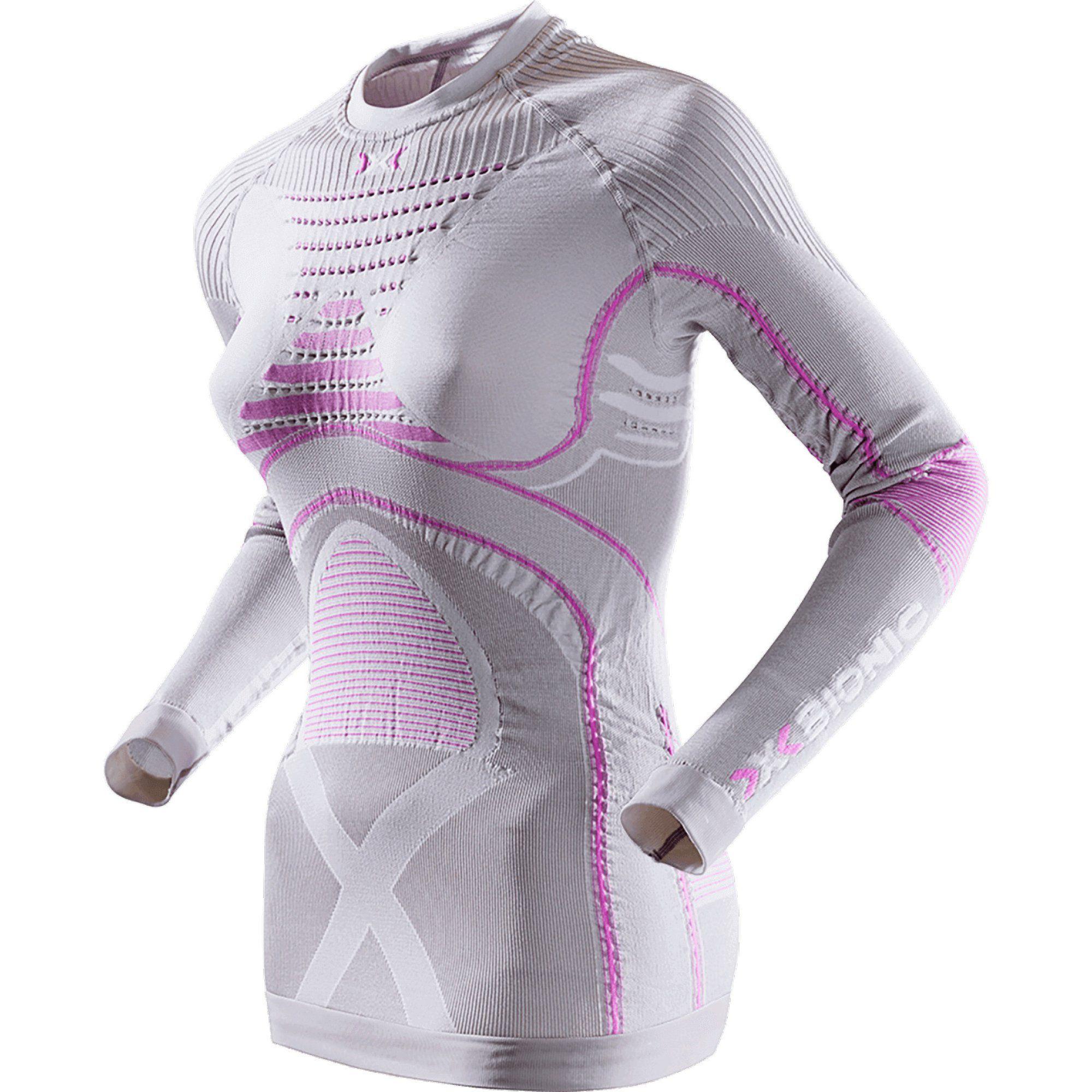 Лонгслив X Bionic Radiactor 2018 женский серый/розовый,
