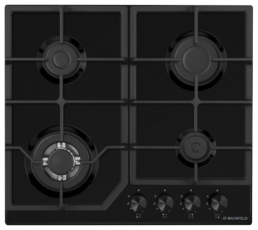 Встраиваемая варочная панель газовая MAUNFELD EGHE.64.43CB/G Black фото