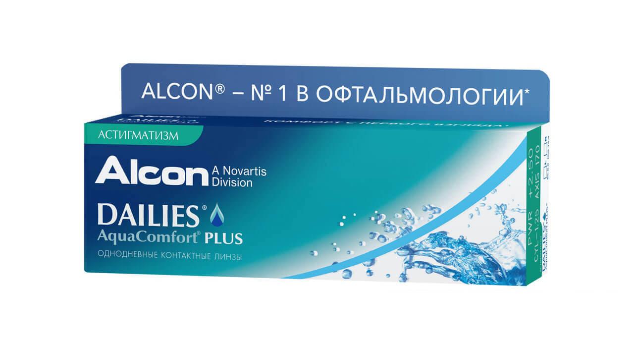 Купить Контактные линзы Dailies AquaComfort Plus Астигматизм 30 линз -4, 50/-0, 75/90
