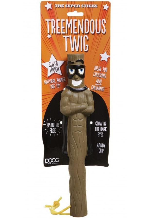 Апорт для собак Doog Treemendous Twig, коричневый