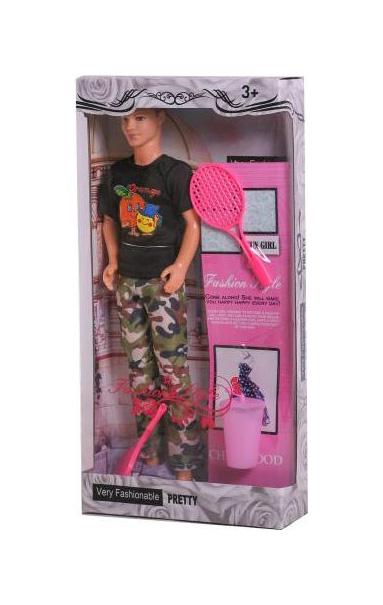 Купить Кукла Наша Игрушка Юноша Теннисист 3 аксессуара 057-3, Наша игрушка,