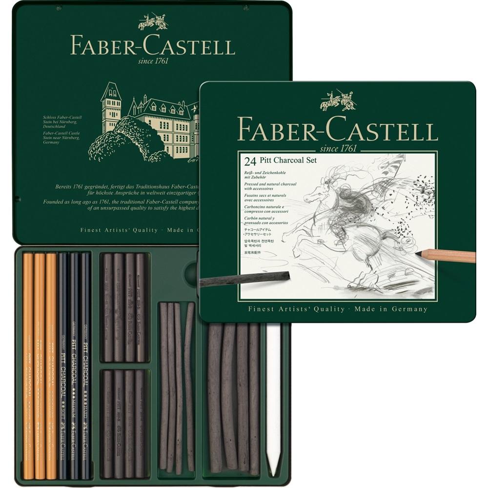Faber Castell Набор чернографитовых карандашей PITT Monochrome Graphite 24 предмета Faber-Castell