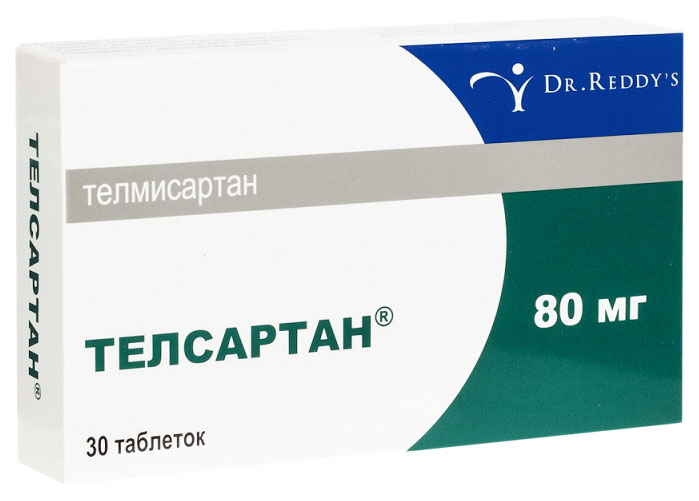 Телсартан таблетки 80 мг 30 шт.
