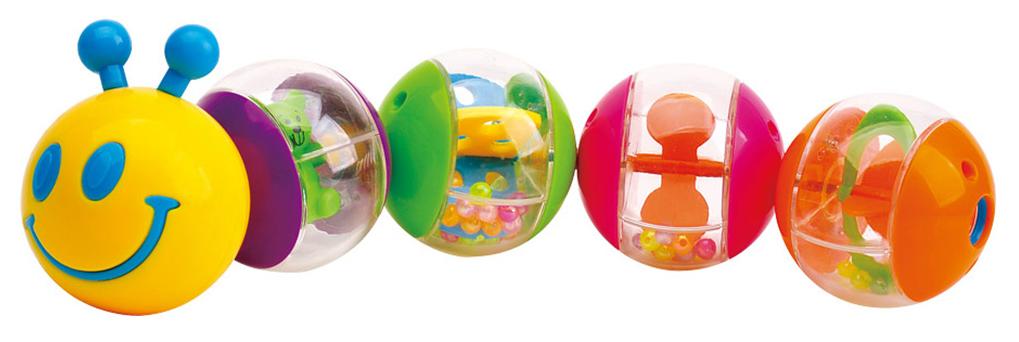 Игрушка пластмассовая Мaman Гусеничка, 5 сегментов 9070