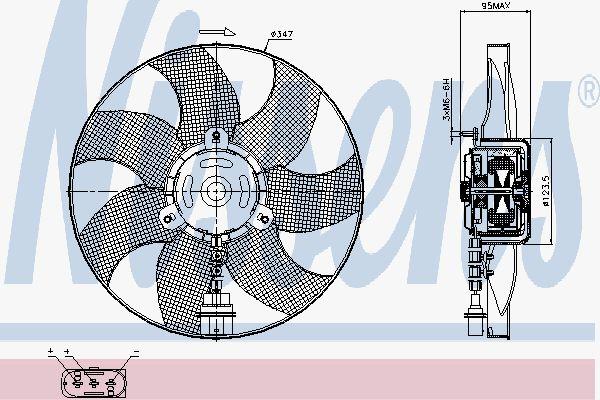 Вентилятор охлаждения двигателя NISSENS 85543