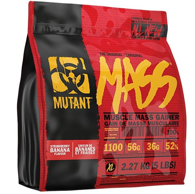 Гейнер Mutant Mass 2270 г Strawberry Banana фото
