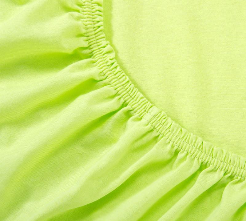 Простыня Ricotio трикотажная на резинке 120х200х20, цвет салатовый фото