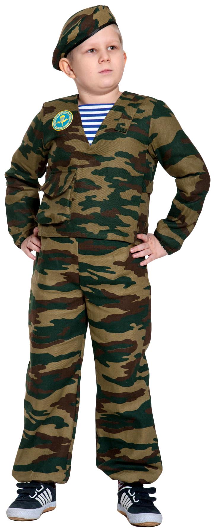 Купить 5112, Карнавальный костюм Карнавалофф Военный, цв. хаки р.134,