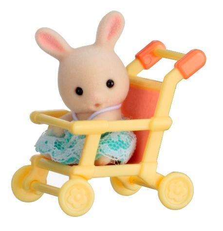 Купить Игровой набор sylvanian families младенец в пластиковом сундучке (кролик в коляске), Игровые наборы
