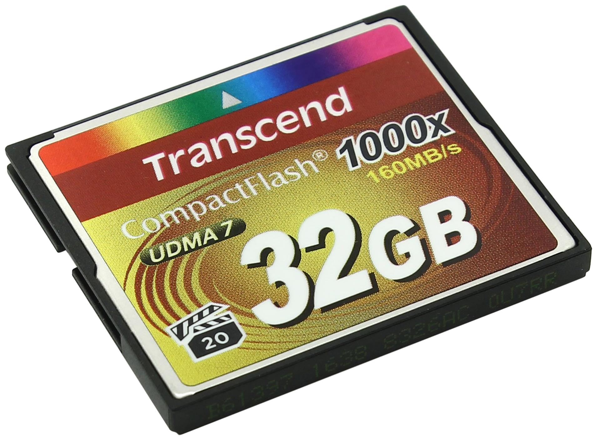 Карта памяти Transcend Compact Flash Ultimate TS32GCF1000