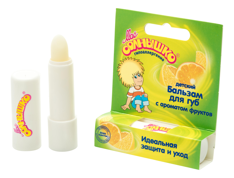 Купить 1336, Бальзам для губ «мое солнышко» фрукты 2, 8 гр в/ф, Мое солнышко, Детские бальзамы для губ