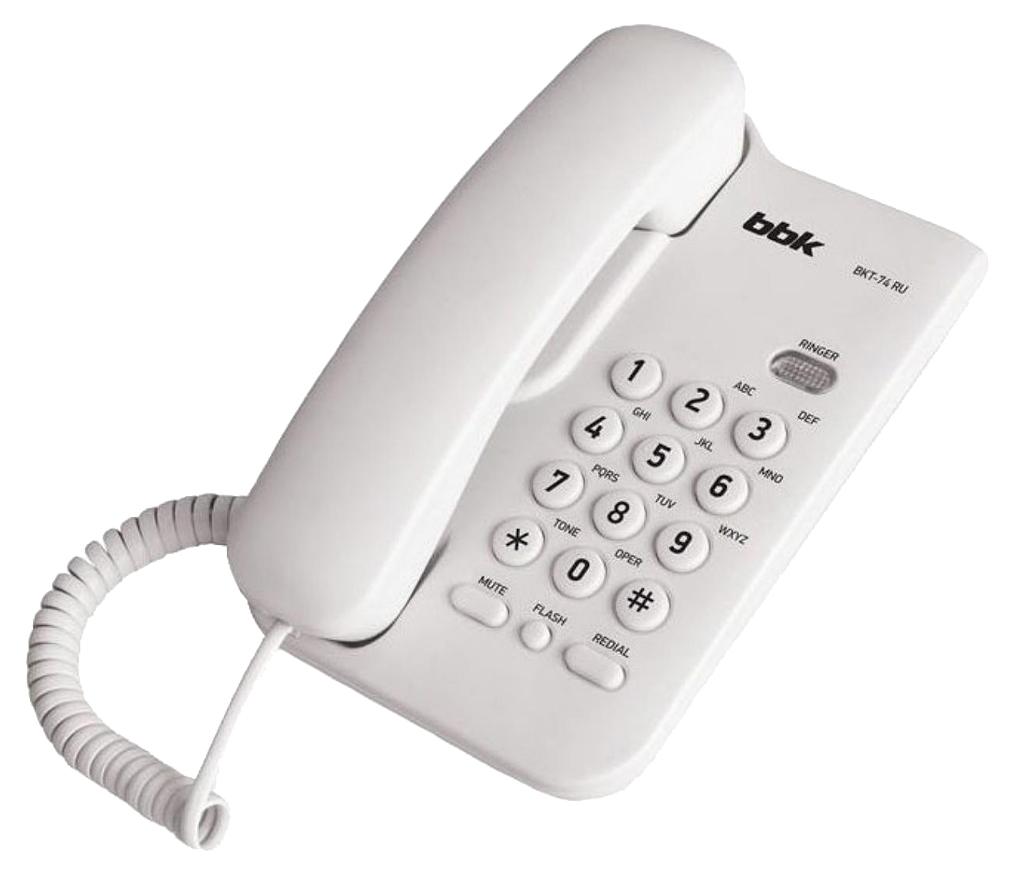 Телефон проводной BBK BKT 74 RU белый