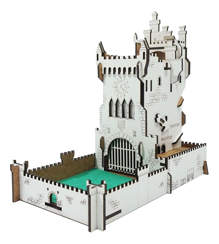 Башня Pandora's Box Белый замок для бросков кубиков складная анимационная фото