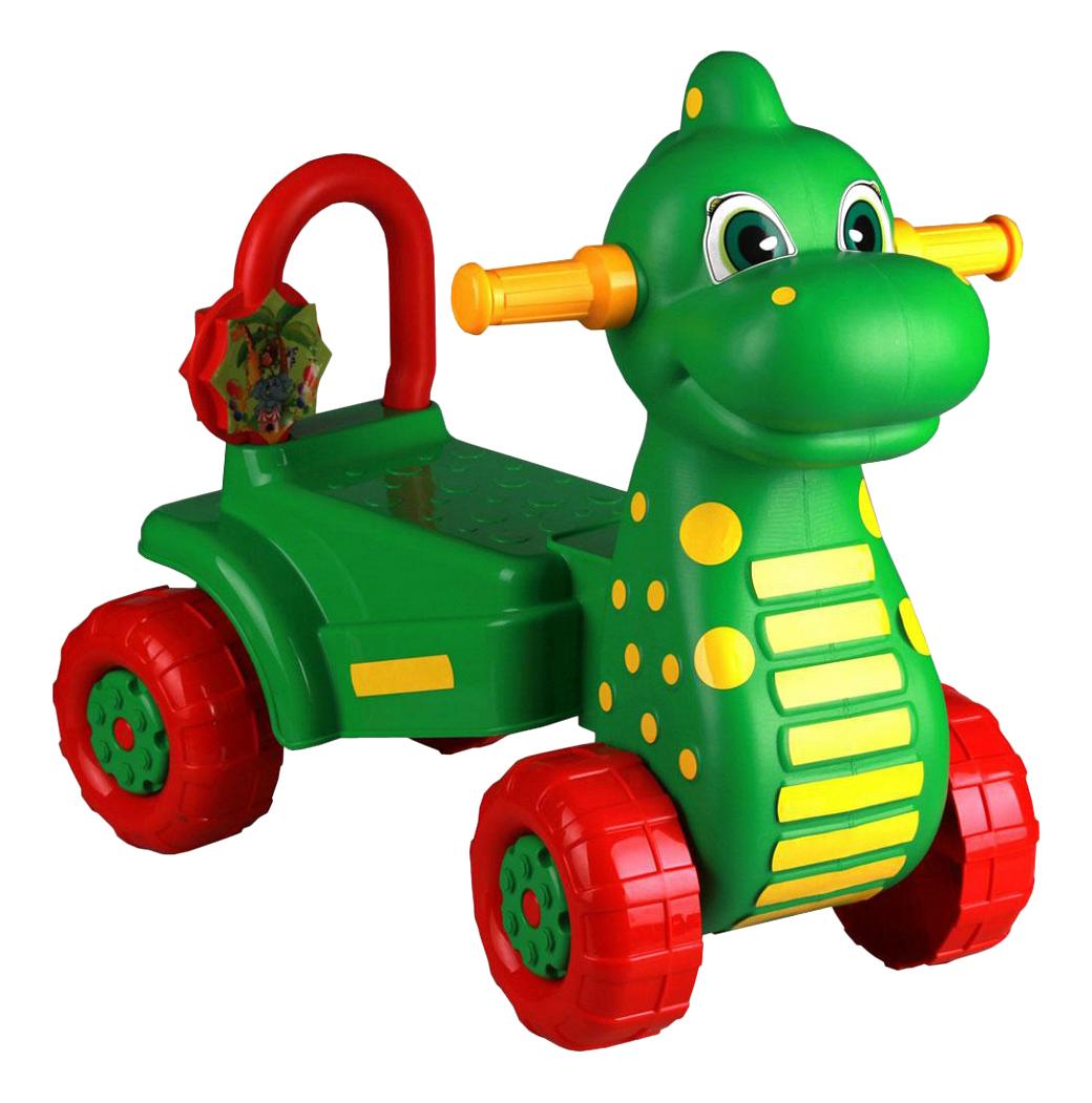 Купить Дракон зеленый, Каталка детская Б/п Каталка Дет, Дракон Зелёный, (Уп, 2), Альтернатива, Каталки детские