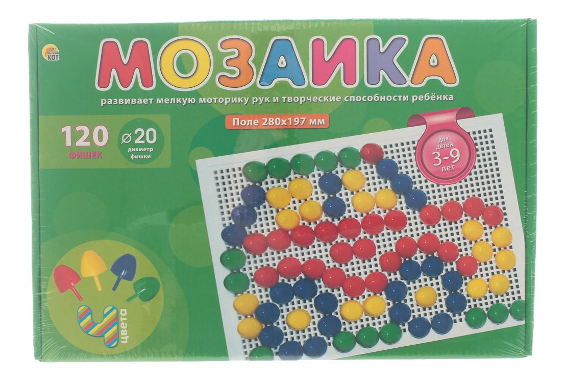 Купить Мозаика Рыжий кот Пластиковая 120 фишек, Проф-Пресс, Мозаики