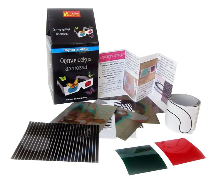Купить Оптические иллюзии, Набор для исследования Ranok Creative Оптические иллюзии, Ранок, Наборы для опытов