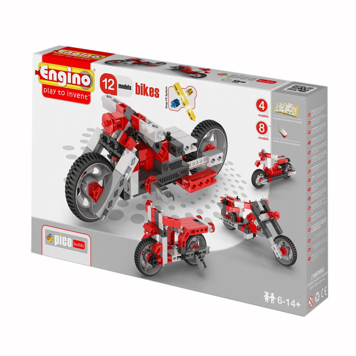 Конструктор Pico Builds Inventor - Мотоциклы, 86 деталей фото