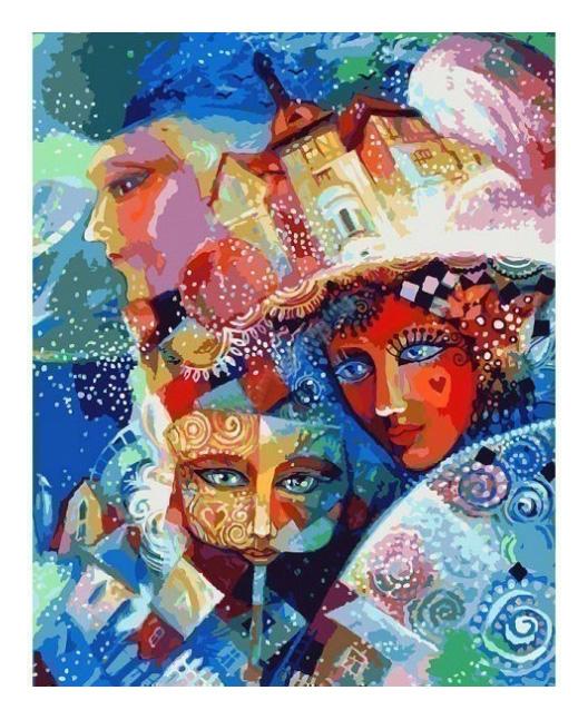 Раскраска по номерам Белоснежка Карнавал