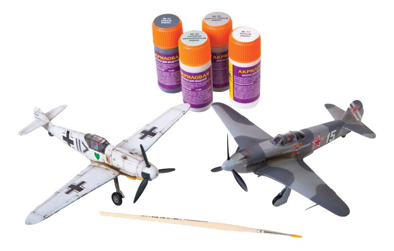 Купить Мессершмитт BF-109 против ЯК-3, Модели для сборки Zvezda Великие противостояния bf-109 против як-3