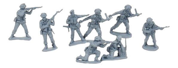 Игровой набор Солдатики Биплант Британские Парашютисты 120204