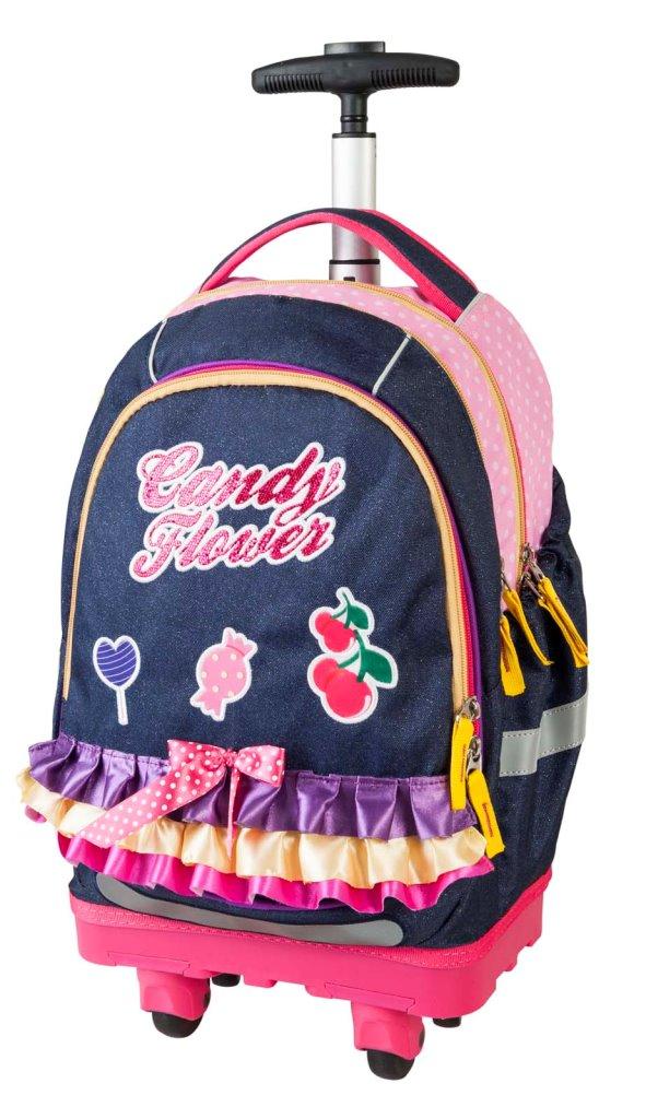 Рюкзак-тележка Сладкие цветы