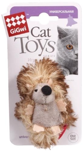 Мягкая игрушка для кошек Gigwi, Искусственный мех, с погремушкой 2x7x3см