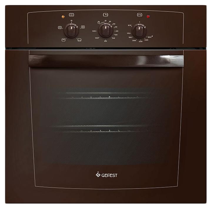 Встраиваемый газовый духовой шкаф GEFEST ДГЭ 601-01 К Brown
