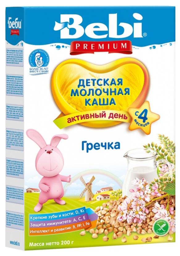 Купить Гречневая 200 г, Молочная каша Bebi Гречневая с 4 мес 200 г, Детские каши