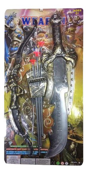 Купить Рыцарь - Лук, стрелы с присосками, сабля, Набор оружия Рыцарь Shantou Gepai 635678, Луки со стрелами детские