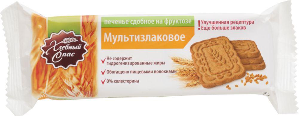 Печенье сдобное Хлебный Спас мультизлаковое на фруктозе 180 г