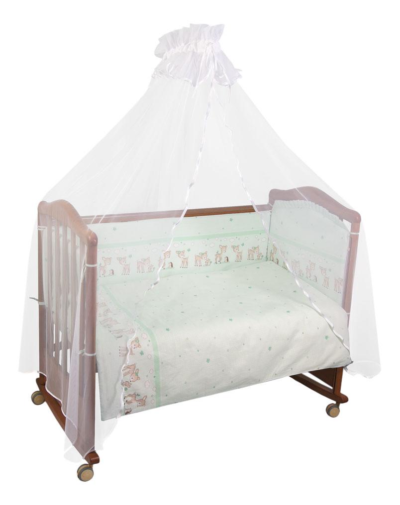 Комплект детского постельного белья Тайна Снов Оленята 3 предмета салатовый фото