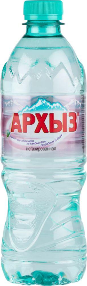 Вода минеральная Архыз негазированная пластик 0.5 л