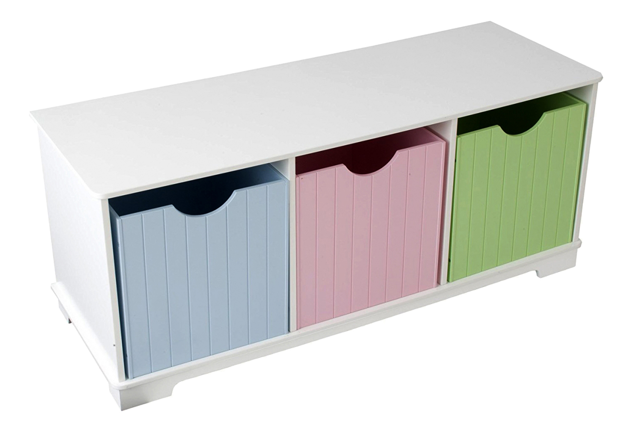 Купить Скамья с ящичками для хранения игрушек Storage Bench pastel Kidkraft 14565_KE, Ящики для хранения игрушек