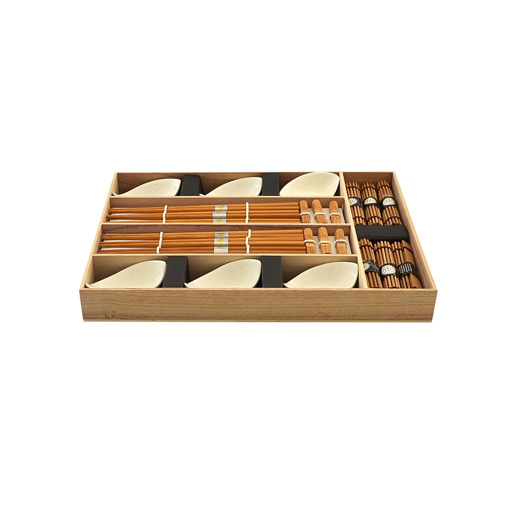 Набор для суши 24 пр. на 6 персон в деревянной коробке FISSMAN 9581