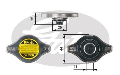 Крышка радиатора Gates RC127