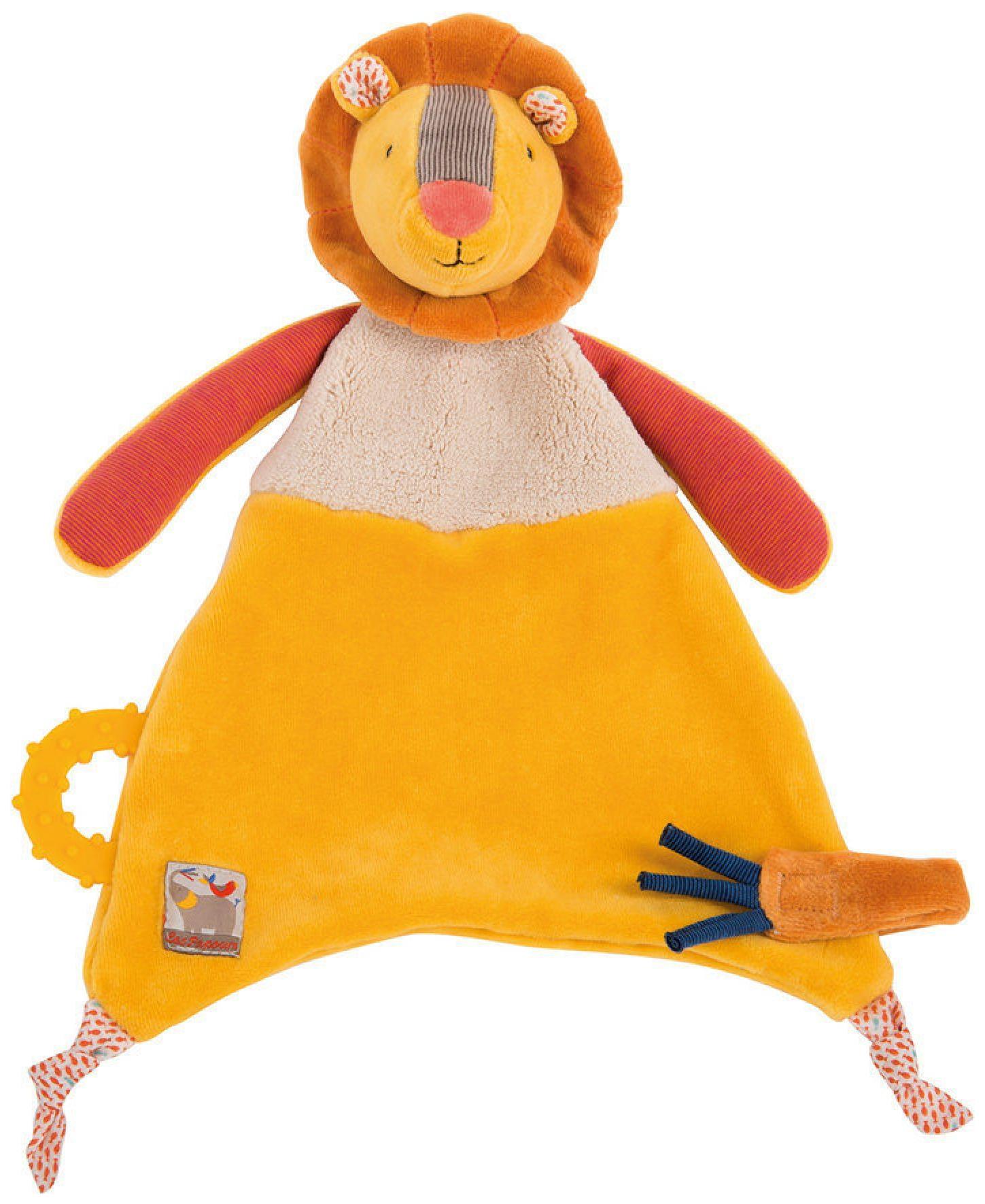 Купить Львенок комфортер 658017, Игрушка-комфортер Львёнок Moulin Roty 658017, Комфортеры для новорожденных