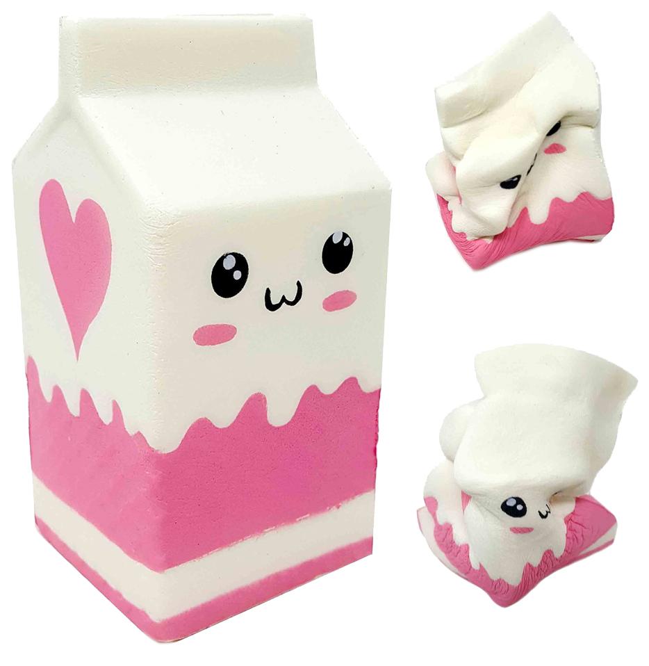 Купить Развивающая игрушка 1TOY Сквиши М-м-мняшка игрушка-антистресс Молоко Т12316, 1 TOY