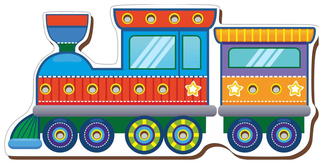 Шнуровка цветная Сибирский Сувенир «Паровоз» фото