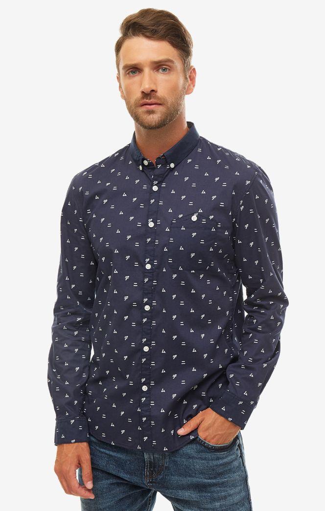 Рубашка мужская TOM TAILOR синяя фото