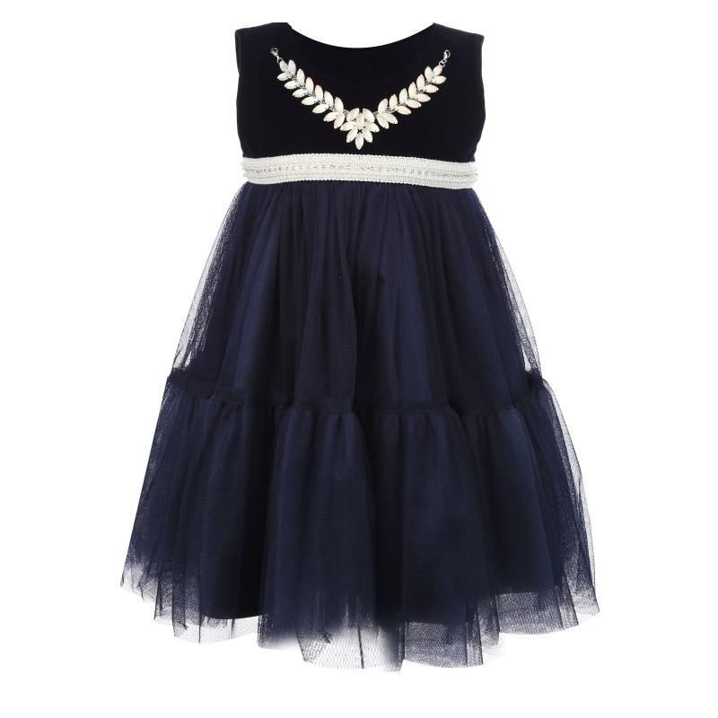 Купить Платье Синий ангел UNONA D'ART, цв. синий, 122 р-р, Детские платья и сарафаны