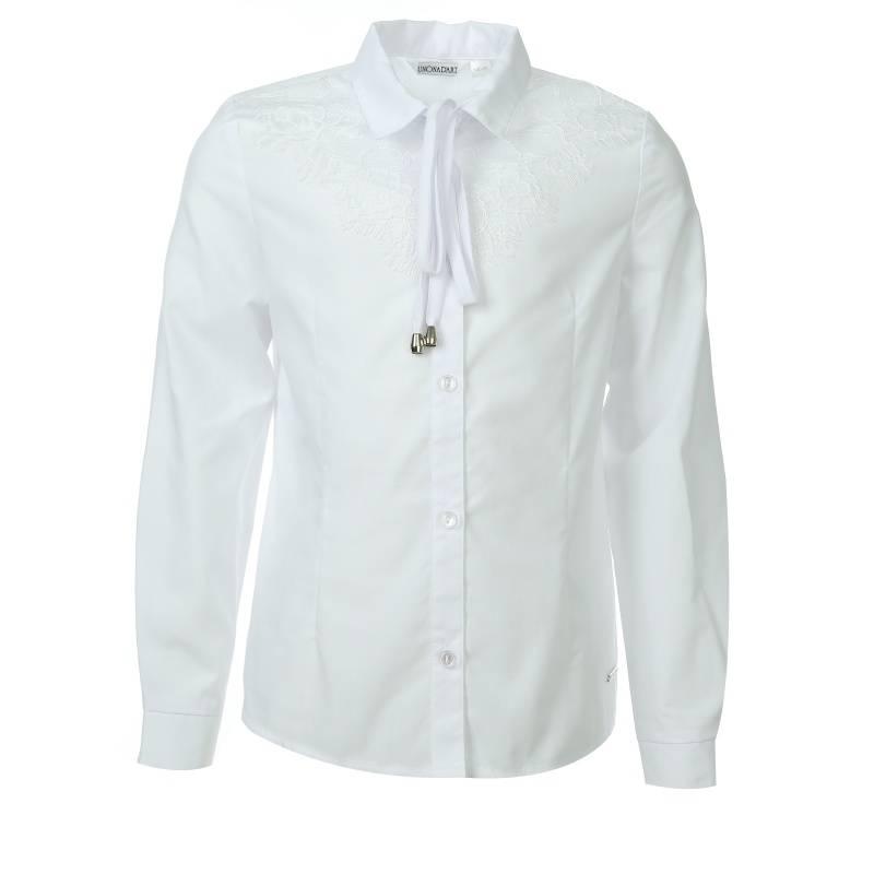 Купить 620, Блузка UNONA D'ART, цв. белый, 134 р-р, Детские блузки, рубашки, туники