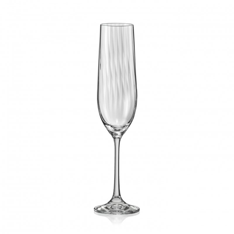 Набор бокалов для шампанского Crystal Bohemia WATERFALL,