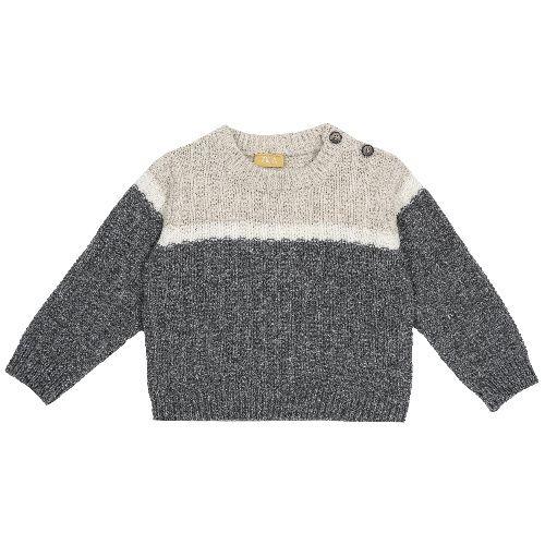 Купить 9069370, Джемпер Chicco для мальчиков р.74 цв.темно-серый, Кофточки, футболки для новорожденных
