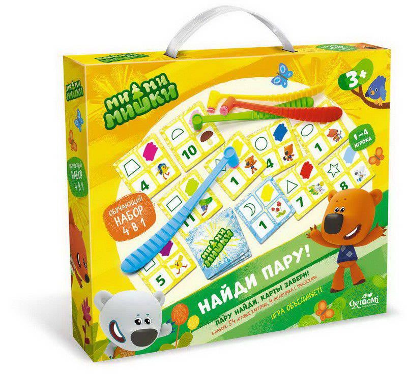 Игра настольная 4 в 1. МиМиМишки. Найди пару. 58 предметов, Origami, Логические игры  - купить со скидкой