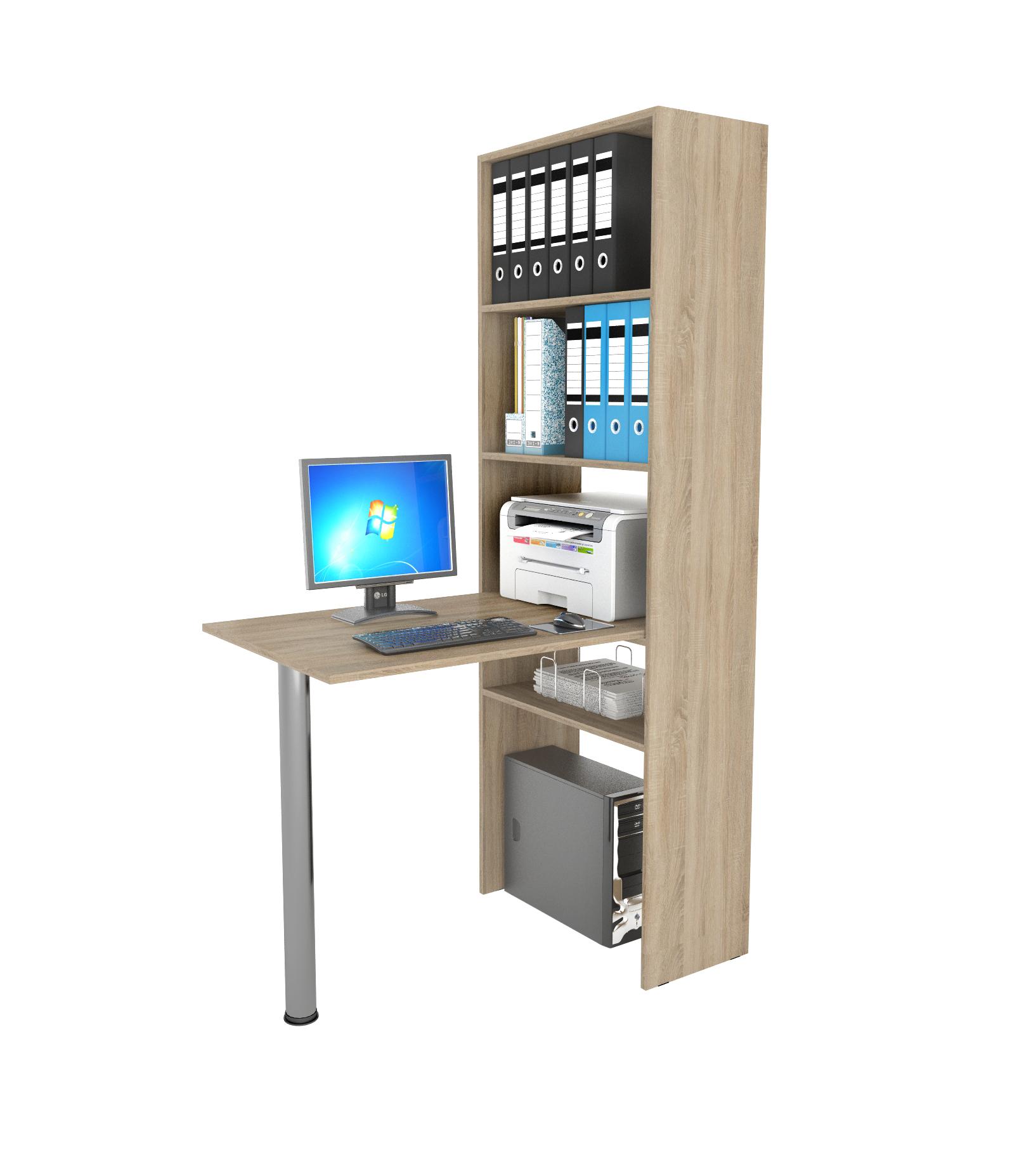 Компьютерный стол в комплекте МФ Мастер Рикс-4+Рикс-6 110x97,8x171,6, дуб сонома