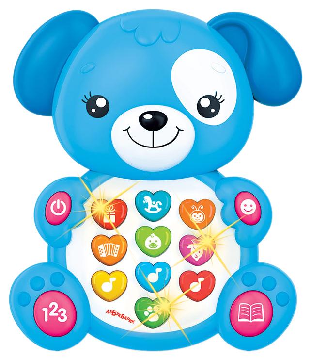 Интерактивная игрушка Азбукварик Зверята С Огоньками Щенок
