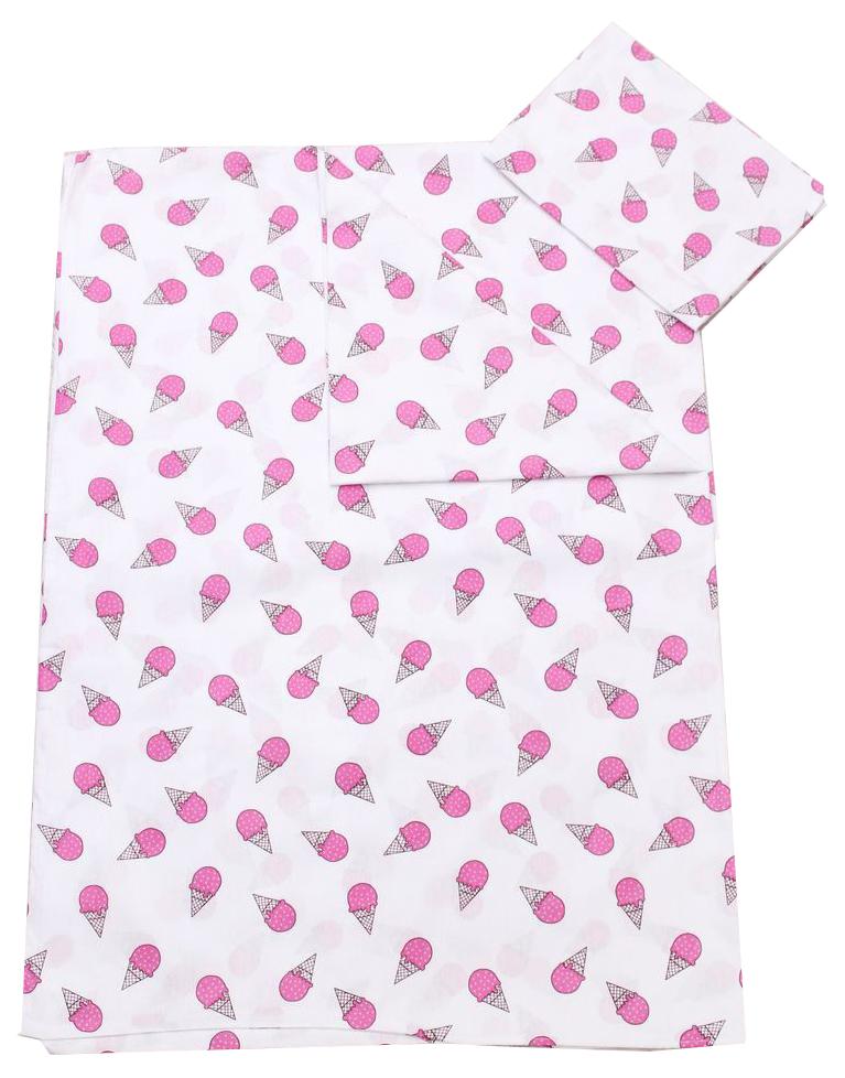 Комплект детского постельного белья AmaroBaby TIME TO SLEEP Мороженки Розовый