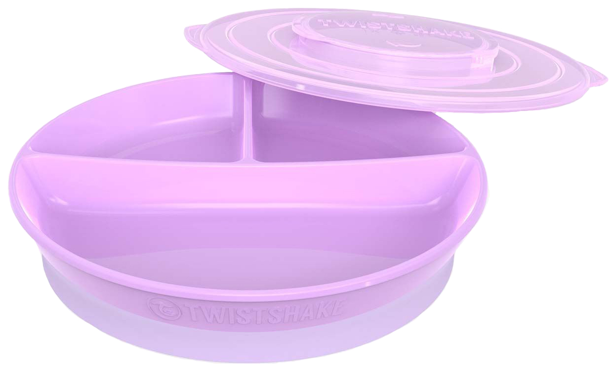 Тарелка с разделителями Twistshake, цвет: пастельный фиолетовый