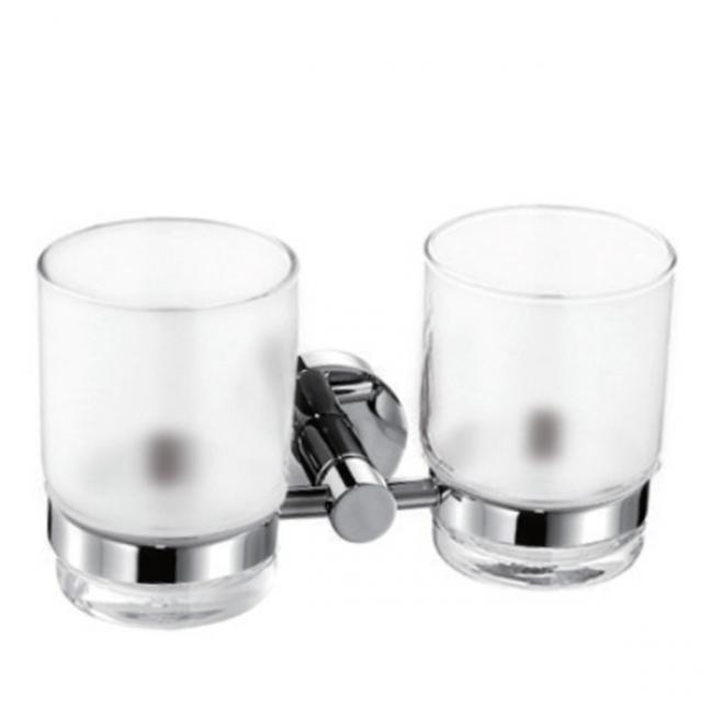 Держатель стаканов двойной(стекло) KAISER хром (латунь)