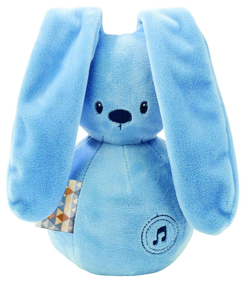 Купить Игрушка мягкая Nattou Musical Soft toy Lapidou Кролик jeans,